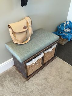 Seat with storage for hall