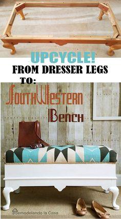 Remodelando la Casa: Up-cycled Southwestern Bench