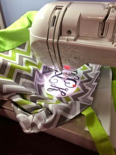 Embroidering a tote bag on the PE770