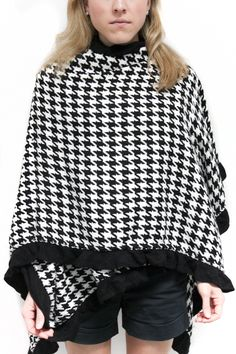 Love Houndstooth Cape