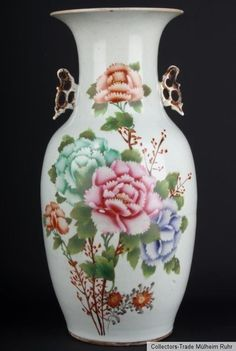 China 20. Jh. Bodenvase -A Chinese Porcelain Baluster Vase - Vaso Cinese Chinois