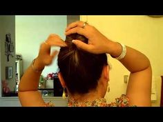 Quick Hair Trick  Updo without any hair ties, clips,   pins