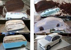 van cake tutorial & car cake tutorial by Verusca Walker