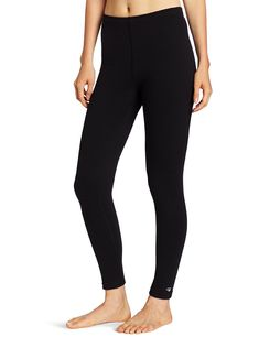 ec2512ef6a384 Women's Heavy-Weight Double-Layer Thermal Leggings - Black - CH117TGSNO5