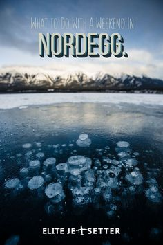 Home to the magical frozen methane bubbles, Nordegg has some of the most beautiful wilderness in Canada. A hidden gem well worth checking out! Also makes for one epic road trip! #Frozenbubbles #alberta #travel #travelblog #winter #roadtrip #canada #explor