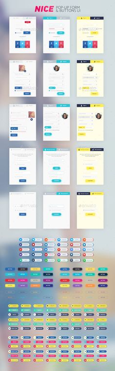 Nice Popup Form and Buttons UI Template PSD. Download here: http://graphicriver.net/item/nice-popup-form-and-buttons-ui/16152324?ref=ksioks