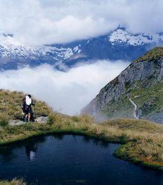 Favorite hike in New Zealand Routeburn Track Top hiking trips New Zealand #newzealandhikes #tuitrip #rimutrip
