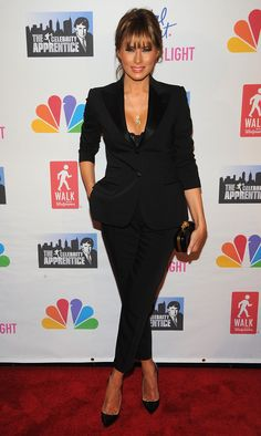 """Melania Trump Photos Photos - Melania Trump attends the """"Celebrity Apprentice"""" Live Finale at American Museum of Natural History on May 2012 in New York City. Malania Trump, Trump One, Ivanka Trump, First Lady Of Usa, Milania Trump Style, Melania Knauss Trump, Trump Photo, Donald And Melania, Blazers"""