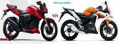 #Compare #TVS #Apache #RTR 200 Vs #Honda CBR150R at: http://www.comparebabu.com/compare-tvs-apache-rtr-200-vs-honda-cbr-150r/