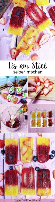 DIY Eis am Stiel selber machen: Einfaches Rezept für deine nächste Sommer Party! So machst du Eis am Stiel mit frischen Früchten und dem Ti Erfrischungstee ganz einfach und schnell selbst. Besuche madmoisell.com für das Rezept!