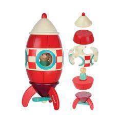 Dilly Dally Kids — Janod rocket magnet toy