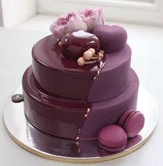 purple cake by nivskaya Gorgeous Cakes, Pretty Cakes, Amazing Cakes, Cupcakes, Cake Cookies, Cupcake Cakes, Cake Decorating Techniques, Cake Decorating Tips, Dairy Free Chocolate Cake