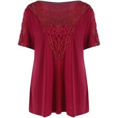 SHARE & Get it FREE | Plus Size Crochet Trim T-ShirtFor Fashion Lovers only:80,000+ Items·FREE SHIPPING Join Dresslily: Get YOUR $50 NOW!