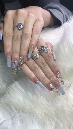 Nail Shapes - My Cool Nail Designs Manicure, Aycrlic Nails, Glam Nails, Love Nails, Beauty Nails, How To Do Nails, Fun Nails, Hair And Nails, Bling Nails