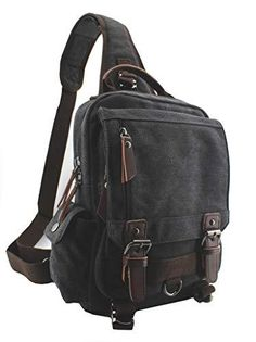 """This Attractive MRoyale™ Sling Mini Backpack Carries Your Essential Belongings In Premium Style! Well-Constructed Tough washed canvas is durable and wear-resistant, becoming your reliable companion for rugged use! Stylish The classic canvas look combines with leather accents for a premium feel. The attractive pulls, buckles & hardware take the styling to another level. Compact, Yet Roomy Generous enough for a thin 13"""" slim laptop, cellphone, wallet, keys, ID card, credit card, small snacks, Canvas Messenger Bag, Canvas Backpack, Mini Backpack, Travel Backpack, Camera Backpack, Camera Bags, Shoulder Backpack, Shoulder Bag, Backpack Reviews"""