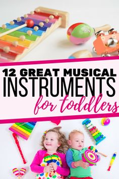 A great list of musical instruments for young kids: 12 instruments that are perfect for toddlers and preschoolers | Music for kids #ActivitiesForToddlers #ActivitiesForPreschoolers