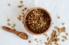 Sweet Spiced Pumpkin Seeds (recipe adapted from @Angela Martin Light)