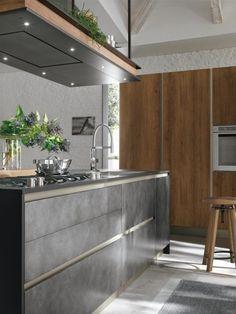 Cucina con isola modello Life - Stosa cucine   Soggiorno moderno ...