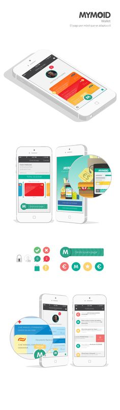 MYMOID by Marcos Chamizo, via Behance Mobile Application Design, Mobile Web Design, User Interface Design, Ui Ux Design, Iphone Ui, Ios, Art Graphique, Interactive Design, Web Design Inspiration