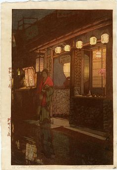 A Little Restaurant by Hiroshi Yoshida (1933)
