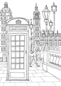 Coloring Europe : Charming London I Waves of Color