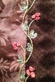 Wonderful Ribbon Embroidery Flowers by Hand Ideas. Enchanting Ribbon Embroidery Flowers by Hand Ideas. Crazy Quilting, Crazy Quilt Stitches, Crazy Quilt Blocks, Crazy Patchwork, Patchwork Heart, Silk Ribbon Embroidery, Embroidery Stitches, Embroidery Patterns, Hand Embroidery