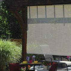 Cord Operated Exterior Solar Roll-Up Shade