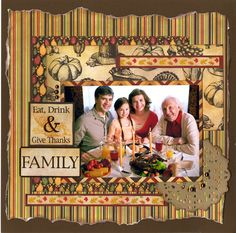 This layout was designed by Cindy Noesen and used the Harvest collection from Reminisce.
