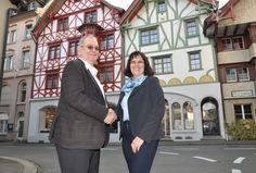 Burkard Kreyenbühl konnte dank Liegenschaftsexpertin Elisabeth Tobler sein Bürgerhaus in der Arboner Altstadt verkaufen.