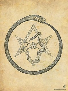 Ouroborus and Hexagram | Flickr - Photo Sharing!