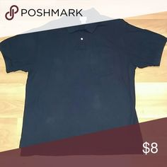 Men's L.L Bean Polo Navy blue 3 button one front pocket L.L. Bean Shirts Polos