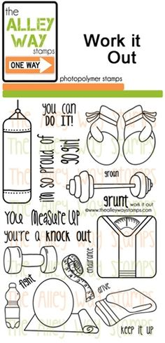 Work it Out / thealleywaystamps.com
