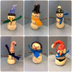 elementary art clay | ... are a few reasons why I love this third grade clay snowmen project