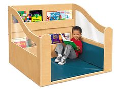With extra-cozy seating & easy-access book storage, Lakeshore's Colors of Nature® Reading Nook is perfect for young readers!