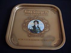 Art Deco Adverting Tray King George 1V Old Scotch whisky-Great Britain. Check it out at platinum-333.ecrater.com.au
