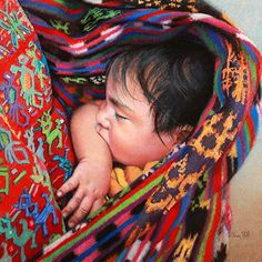 Kim Hill - Nestled In- Pastel - Painting entry - May 2016   BoldBrush Painting Competition