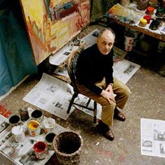 Frank Auerbach in his London studio by Eamonn McCabe.   www.npg.org.uk
