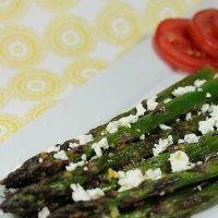 Lemon Garlic Asparagus With Goat Cheese Recipe