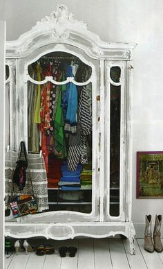 lacking closet space? make your own closet. and make it pretty while you're at it!