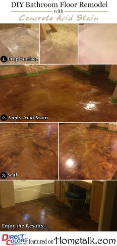 Awesome Diy Concrete Staining Indoors