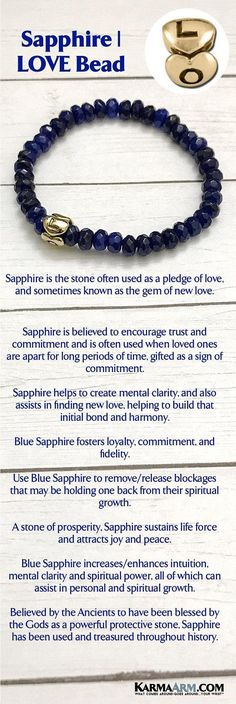 LOVE BRACELET | Sapphire Bracelets | Reiki Healing | Mens & Womens Yoga Jewelry | #Blue #Sapphire fosters loyalty, commitment, and fidelity, making it useful in relationships both romantic and professional. #zen #reiki #Bracelets #BEADED #Gemstone #Mens #GiftsForHim #Lucky #womens #Jewelry #gifts #Chakra #Kundalini #Law #Attraction #LOA #Love #Mantra #Mala #wisdom #CrystalEnergy #Spiritual #Gifts #Blog #Mommy #Meditation #prayer #mindfulness #Healing #friendship #Stacks #Goddess