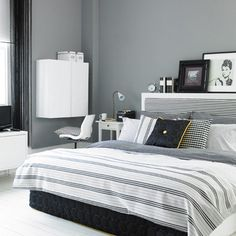 Grey Bedroom walls | Grey Bedroom Ideas | Interiors