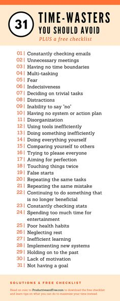 31 Time-Waster You Should Avoid and What To Do Instead + Free Checklist   Productive and Free