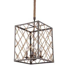 Twine & Iron Shale Ceiling Lamp by Candelabra Home. Restoration Warehouse, Ceiling Lamp, Ceiling Lights, Pendant Lighting, Chandelier, Cottage Bath, Lamp Design, Joss And Main, Candelabra