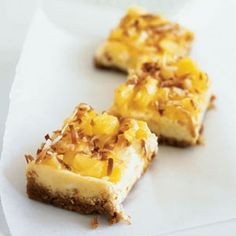 Piña Colada Cheesecake Bars  - Channel the tropics with these cheesecake bars that feature fresh, in-season pineapple.