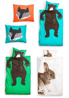 jennys hus - Fint i sängen för de små. Love these duvet covers! Only available for the wee people apparently..
