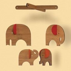 mobile mit elephanten