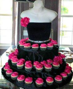 cupcake dress tier! http://www.fooodstyle.com/search/label/Ideas