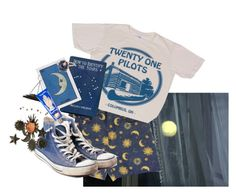 """the stars told me youre dumb"" by nogardea on Polyvore featuring Twenty, Converse, Pier 1 Imports, Buly and Andrea Fohrman"