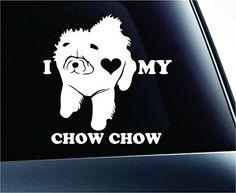 I Love My Chow Chow Dog Symbol Decal Paw Print Dog Puppy Pet Family Breed Love Car Truck Sticker Window (White) ExpressDecor http://www.amazon.com/dp/B00SXAYECY/ref=cm_sw_r_pi_dp_eL52ub1K5913G